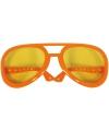 Mega oranje elvis bril
