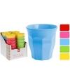 Melamine drinkbeker blauw 9 cm