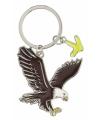 Metalen adelaar sleutelhanger 5 cm