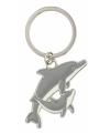 Metalen dolfijn sleutelhanger 5 cm
