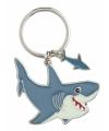 Metalen haai sleutelhanger 5 cm