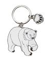Metalen ijsbeer sleutelhanger 5 cm