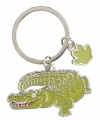 Metalen krokodil sleutelhanger 5 cm