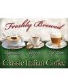 Metalen muurplaat classic italian coffee 30 x 40 cm
