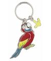 Metalen papegaai sleutelhanger 5 cm