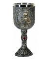 Metalen ridder kelk 17 cm