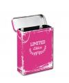 Metalen sigaretten box roze