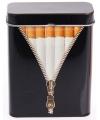Metalen sigarettenblikje zwart