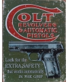 Metalen wandplaat colt revolvers