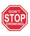 Metalen wandplaat do not stop drinking