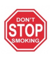 Metalen wandplaat do not stop smoking