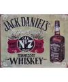 Metalen wandplaat jack daniels old no 7