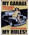 Metalen wandplaat my garage