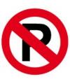 Metalen wandplaat niet parkeren