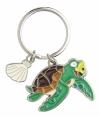 Metalen zeeschildpad sleutelhanger 5 cm
