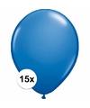 Metallic blauwe ballonnen 15 stuks