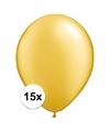Metallic gouden ballonnen 15 stuks