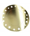Metallic gouden placemats 33 cm