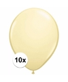Metallic ivoren ballonnen 10 stuks