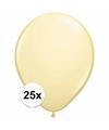 Metallic ivoren ballonnen 25 stuks