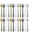 Metallic plastic vorkjes 20 stuks