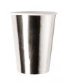 Metallic zilveren bekertjes 8x