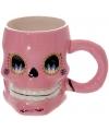 Mexicaanse schedelvormige mok roze