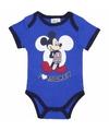Mickey korte mouw rompertje blauw