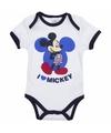 Mickey korte mouw rompertje wit