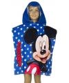 Mickey mouse badcape blauw