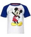 Mickey mouse t shirt wit blauw voor jongens
