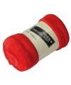 Microvezel fleece deken rood