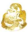 Mini geel happy boeddha beeldje 3 cm
