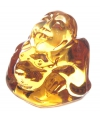 Mini goud happy boeddha beeldje 3 cm