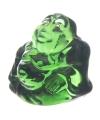 Mini groen happy boeddha beeldje 3 cm