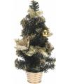 Mini kerstboom met gouden versiering 40 cm