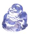 Mini lichtblauw happy boeddha beeldje 3 cm