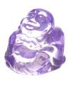 Mini lila happy boeddha beeldje 3 cm