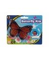 Mini oranje vlinder vlieger 15cm