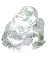 Mini transparant happy boeddha beeldje 3 cm