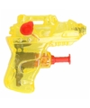 Mini waterpistool geel 7 cm