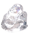 Mini wit happy boeddha beeldje 3 cm