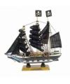 Miniatuur piratenbootje 16 cm
