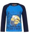 Minion t shirt blauw met navy