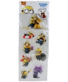 Minions 3d sticker vel
