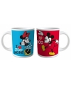 Minnie en mickey mouse bekers 2 stuks