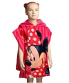 Minnie mouse badcape roze