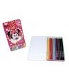 Minnie mouse kleurpotloden 12 stuks