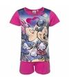 Minnie mouse korte pyjama roze