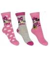 Minnie mouse meisjes sokken 3 pak lichtroze